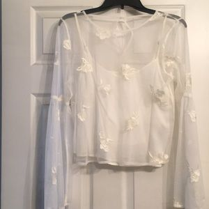NWOT Hollister long sleeve lace top
